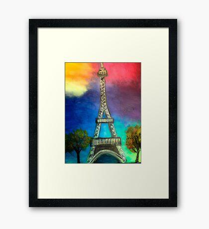 eiffel tower (vivid) Framed Print