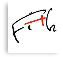 Fith Signature Canvas Print
