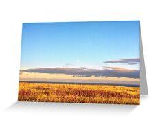 Sunset on Golden Field - Aberdeenshire, Scotland Greeting Card