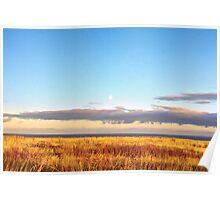 Sunset on Golden Field - Aberdeenshire, Scotland Poster