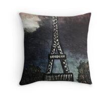 eiffel tower (dark) Throw Pillow