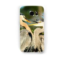 Great Blue Herons Adult and Young Samsung Galaxy Case/Skin