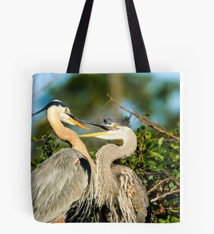 Great Blue Herons Adult and Young Tote Bag