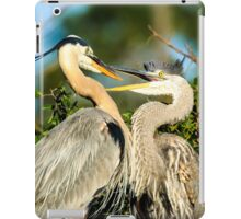 Great Blue Herons Adult and Young iPad Case/Skin