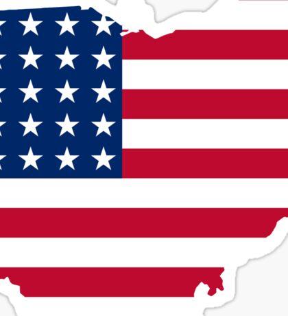 Patriotic Ohio Sticker