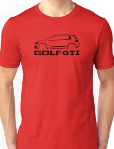 VW Golf GTI silhouette Black Unisex T-Shirt