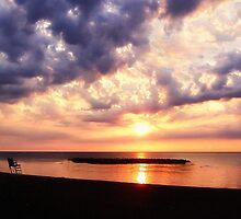 Lake Erie Sunset - Erie, PA by Kathy Weaver