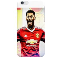 Marcus Rashford with Badge iPhone Case/Skin