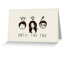 "Harry Potter ""Until the end"" illustration  Greeting Card"