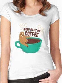 need a lot of coffee Women's Fitted Scoop T-Shirt