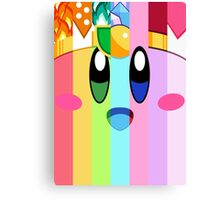 Kirby and his many faces Canvas Print