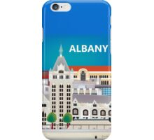 Albany, New York - Skyline Illustration by Loose Petals iPhone Case/Skin