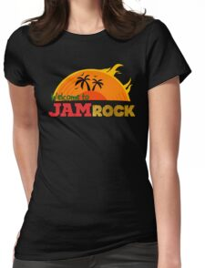 Welcome to Jamrock Womens Fitted T-Shirt