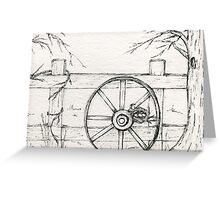 Bird Nest Wagon No.1 Greeting Card