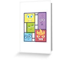 Composition of Emotions Greeting Card