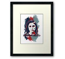 STENCIL PORTRAIT Framed Print