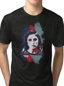 STENCIL PORTRAIT Tri-blend T-Shirt
