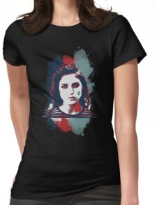 STENCIL PORTRAIT Womens Fitted T-Shirt