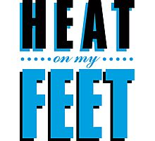 Heat on my Feet - Blue Photographic Print