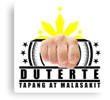 Duterte Campaign Design Illustration Canvas Print