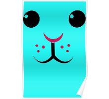 Easter Bunny Rabbit face Poster