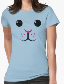 Easter Bunny Rabbit face Womens Fitted T-Shirt