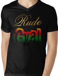 Jamaican Rude Gyal Mens V-Neck T-Shirt