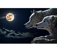 Mytical Wolves  Photographic Print