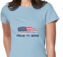 Airforce Proud USA Womens Fitted T-Shirt