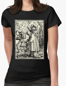 Totentanz, Dance of macabre (Holbein) Womens Fitted T-Shirt
