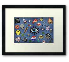 Patch Extravaganza Framed Print