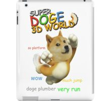 Super doge 3D World iPad Case/Skin