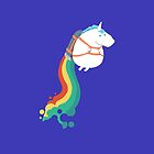 Fat Unicorn on Rainbow Jetpack by martiothomson87