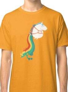 Fat Unicorn on Rainbow Jetpack Classic T-Shirt