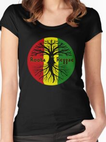 ROOTS REGGAE Women's Fitted Scoop T-Shirt