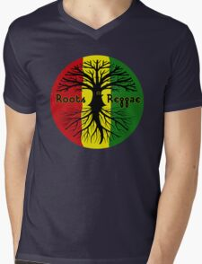 ROOTS REGGAE Mens V-Neck T-Shirt