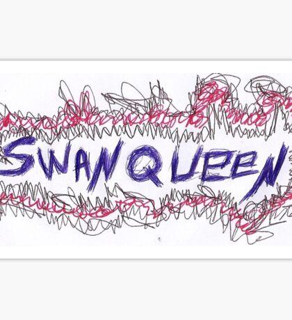 swan queen 3 colors Sticker