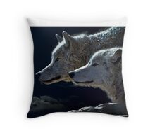 Mytical Wolves  Throw Pillow