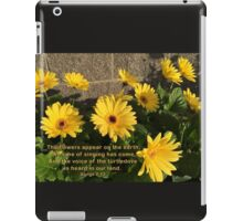 Flowers--Songs 2:12 iPad Case/Skin