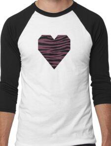 0463 Old Mauve or Wine Dregs Tiger Men's Baseball ¾ T-Shirt