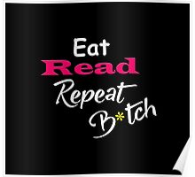 Contaminated Reader Collection - Read & Repeat Black Poster