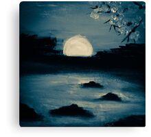 sunset mist in blue Canvas Print