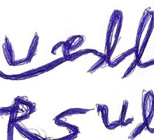 cruella ursula blue ink Sticker
