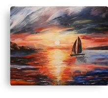 Sunset at Sea Canvas Print
