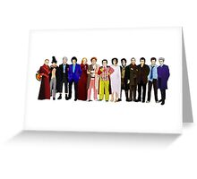 Doctor Who - Regenerated Lineup Greeting Card
