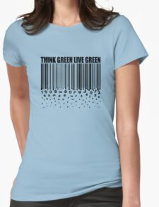 THINK GREEN LIVE GREEN Womens Fitted T-Shirt