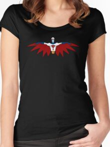 """Ken, the Eagle """"Gatchman"""" Women's Fitted Scoop T-Shirt"""