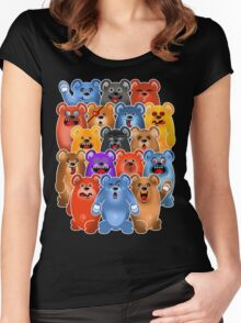 BEAR CROWD 3 Women's Fitted Scoop T-Shirt