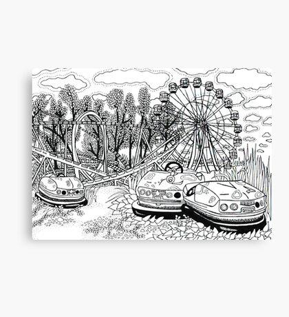 Chernobyl Ferris wheel Canvas Print