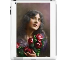 Colorized Vintage Young Beauty II iPad Case/Skin